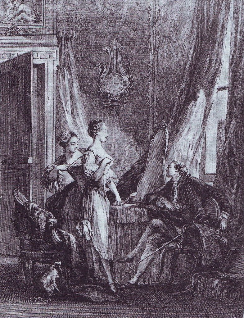 la toilette - gravure XVIIIe siècle