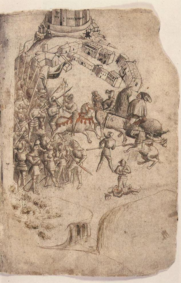 La bataille de Bannockburn (extrait du Scotichronicon, manuscrit de Walter Bower, 1440)