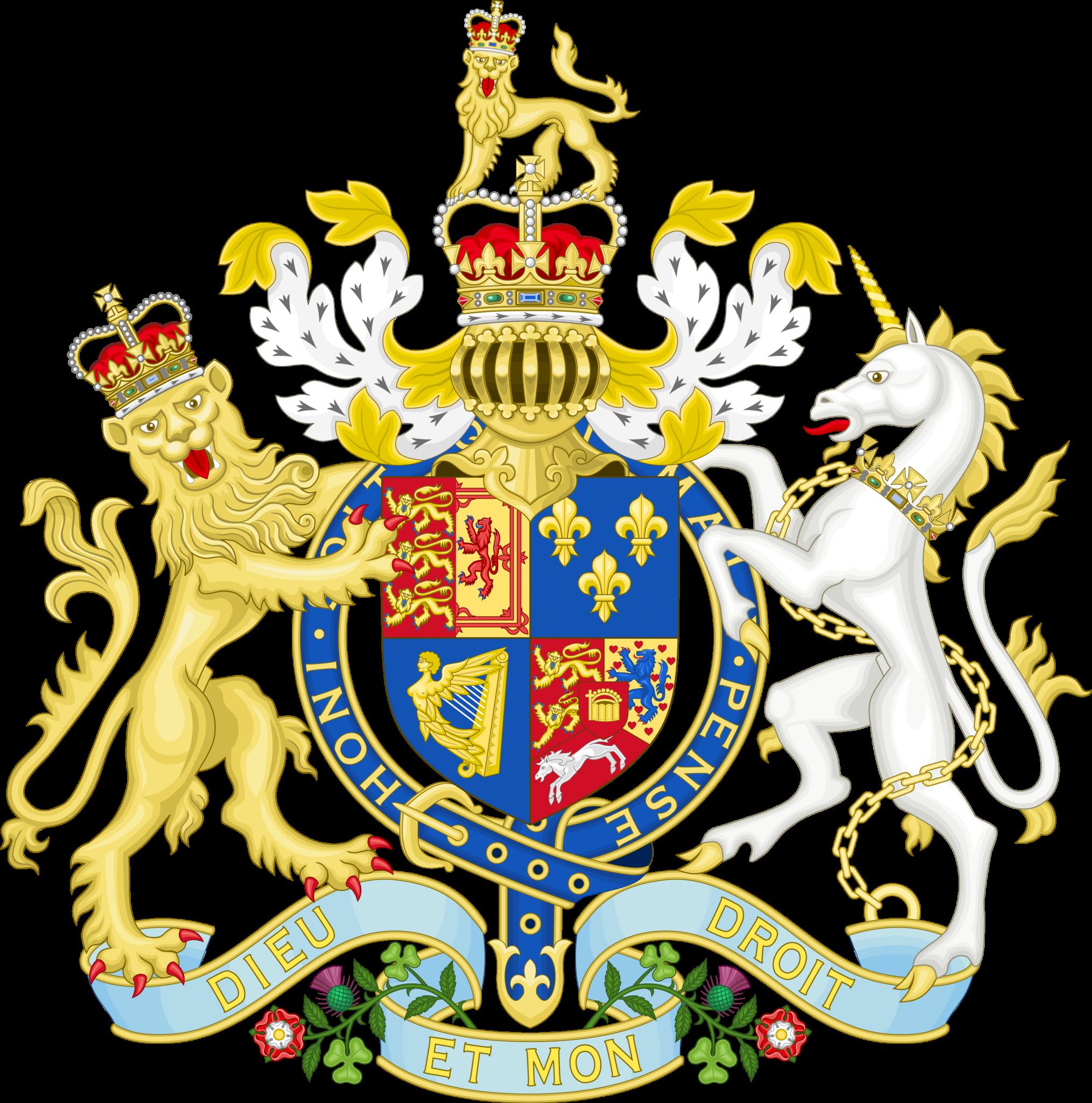Armoiries de la Grande Bretagne (entre 1714 et 1801)