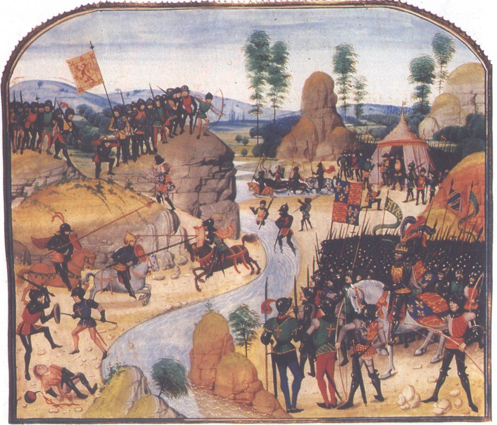Édouard III envahit l'Écosse (extrait des chroniques de Froissart, 1408)