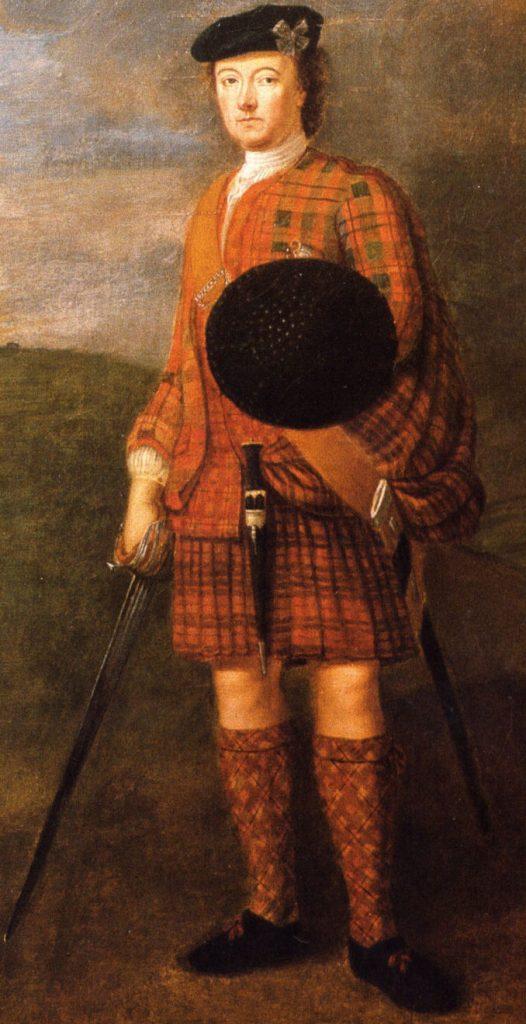 Lord George Murray, Commandant en chef de l'armée jacobite - auteur inconnu - XVIIIème siècle