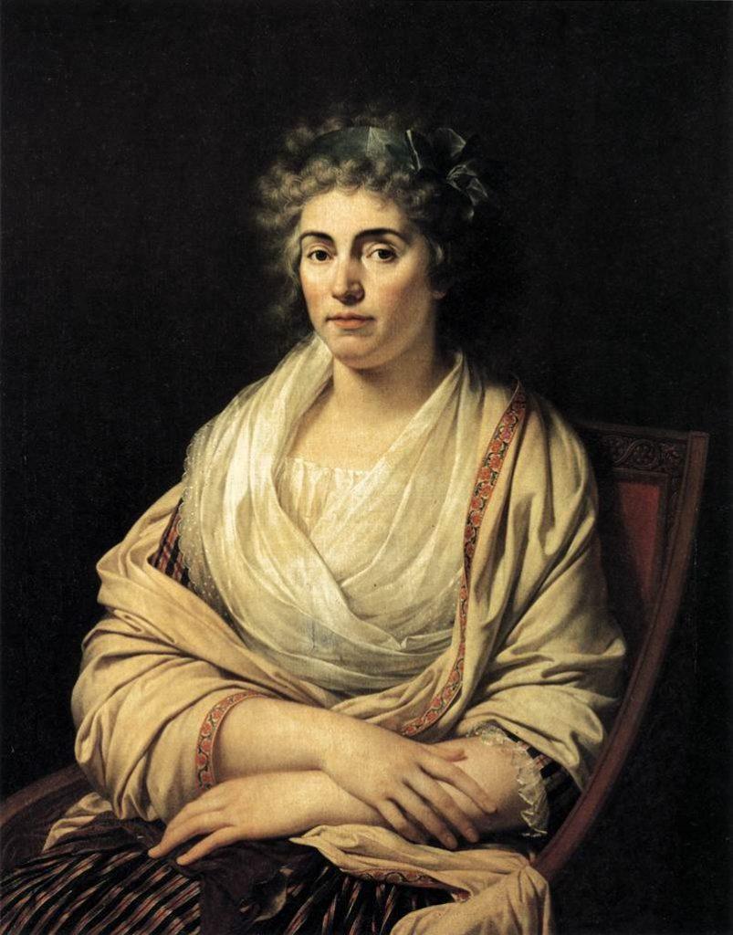 """""""Louise, Comtesse d'Albany"""" par François-Xavier Fabre - 1793"""