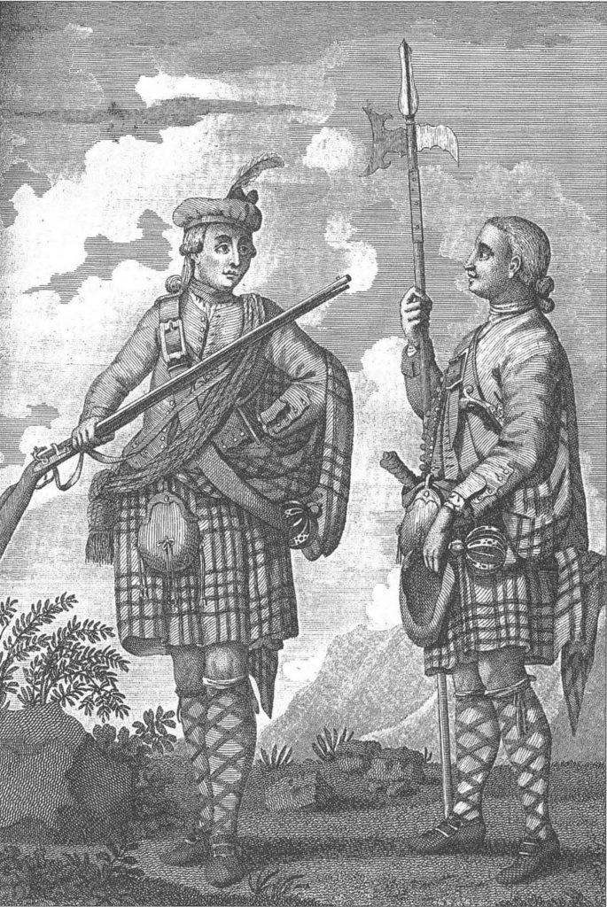Highlanders de l'armée régulière, vers 1745