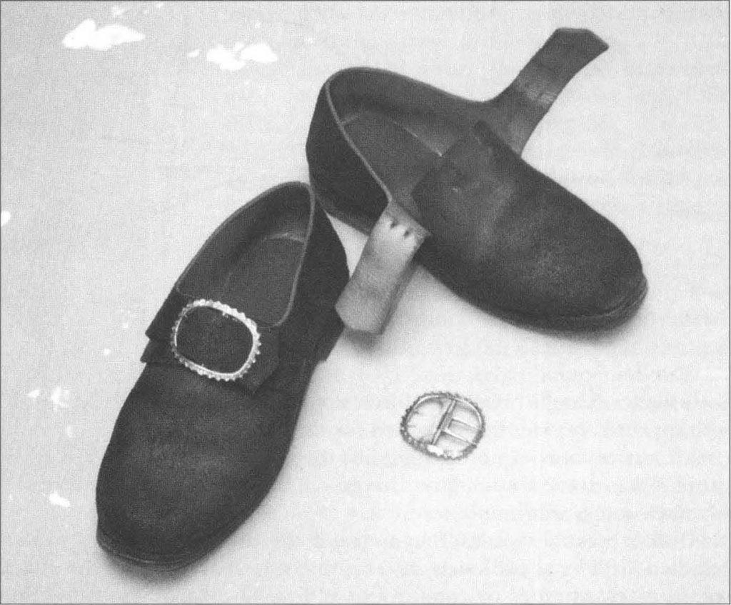 Chaussures militaires retrouvées à Fort William - 18e siècle