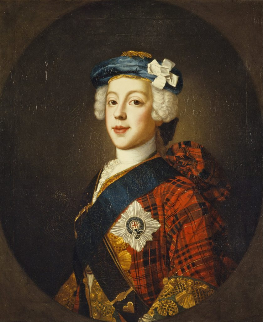 Le Prince Charles Edward Stuart par William Mosman vers 1750, Ref. PG 1510 National Galleries of Scotland