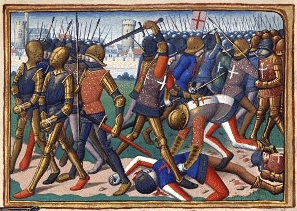 La bataille de Cravant où s'est illustré John Stuart de Darnley (Vigiles de Charles VII par Martial)