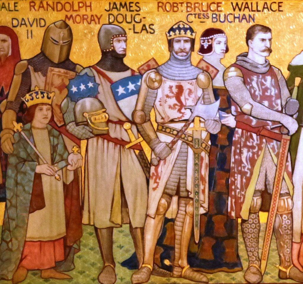Les grandes figures de la première guerre d'Indépendance d'Écosse par William Hole (1898)