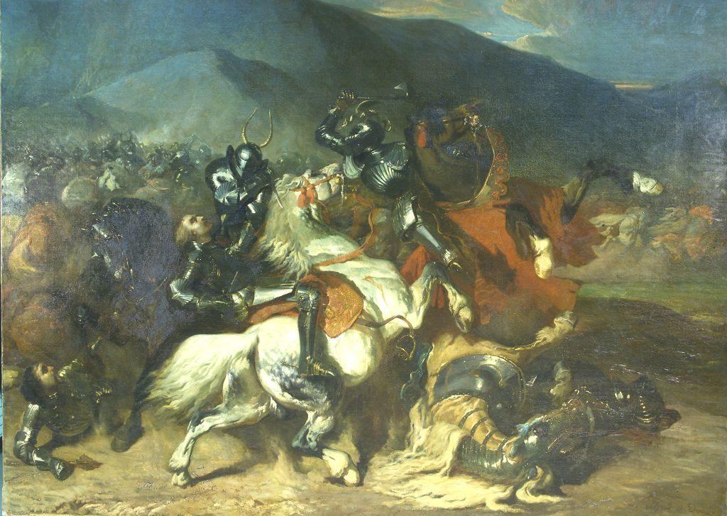 La Bataille de Baugé, par Alfred de Dreux, 1839