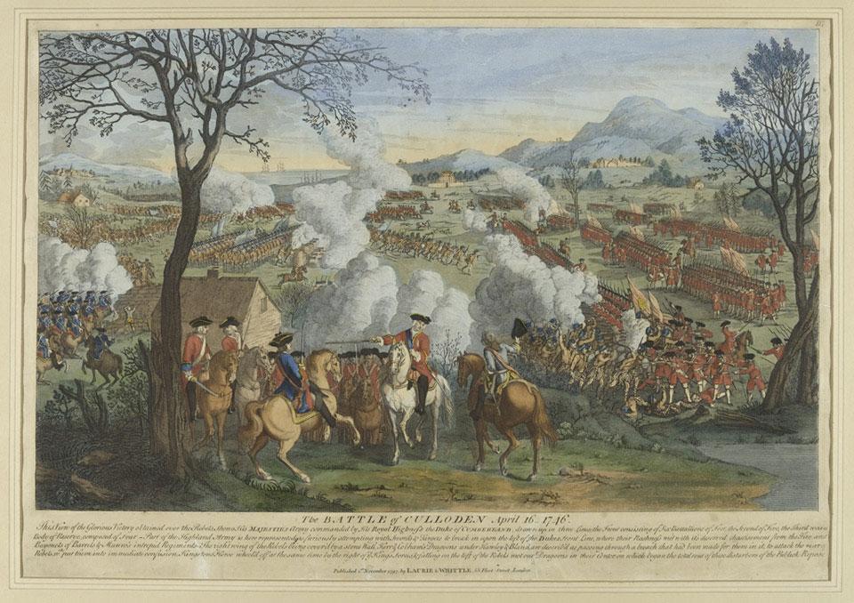 la bataille de Culloden - Gravure XVIIIe siècle