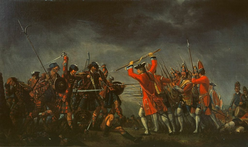 """The Battle of Culloden"" par David Morier, 1746"