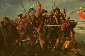 """The Battle of Culloden"" par David Morier, 1746 - détail de la peinture"