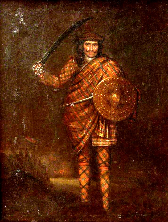 Highland Warrior, vers 1720, par Waitt