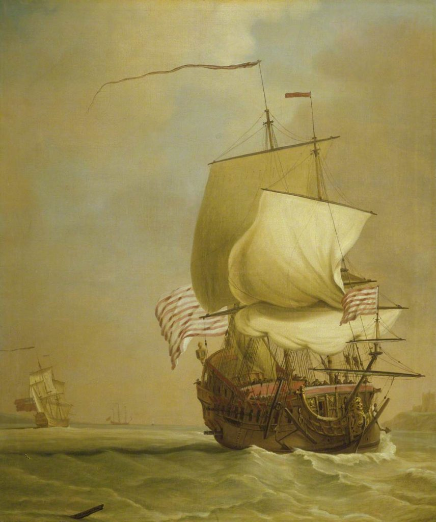 Un navire de l'East India Company, par Peter Monamy, 1720, copyright National Maritime Museum