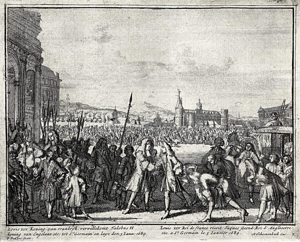 L'arrivée de Jacques II à Saint Germain en Laye le 5 janvier 1689