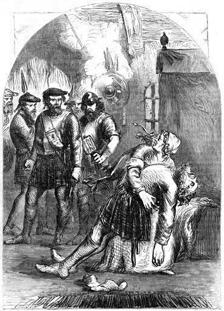 La mort de MacLain lors du massacre de Glencoe - auteur & date inconnus