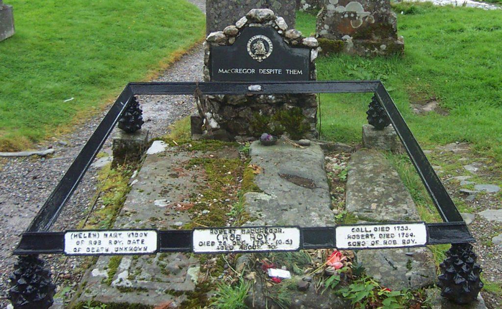 La tombe de Rob Roy MacGregor, de nos jours