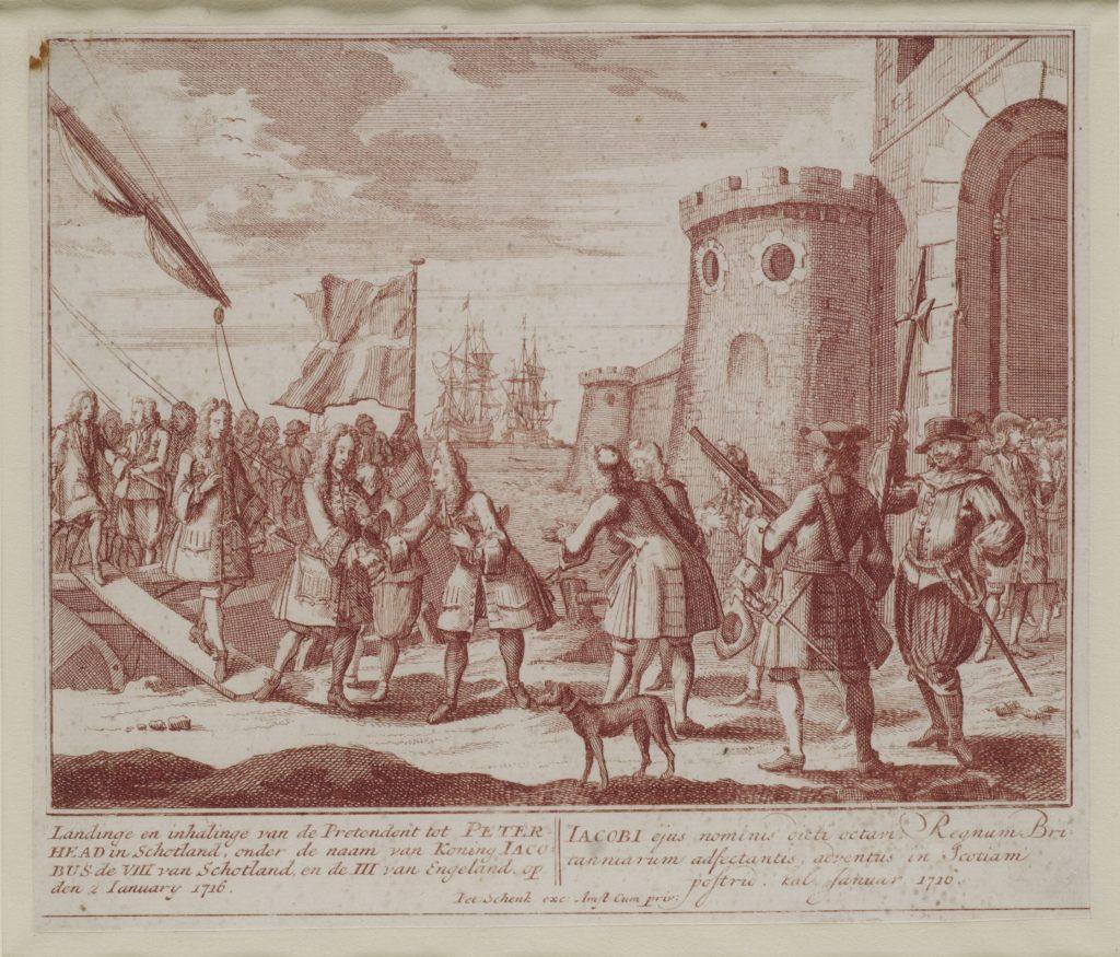 Le débarquement de Jacques François Stuart en Écosse le 22 décembre 1715