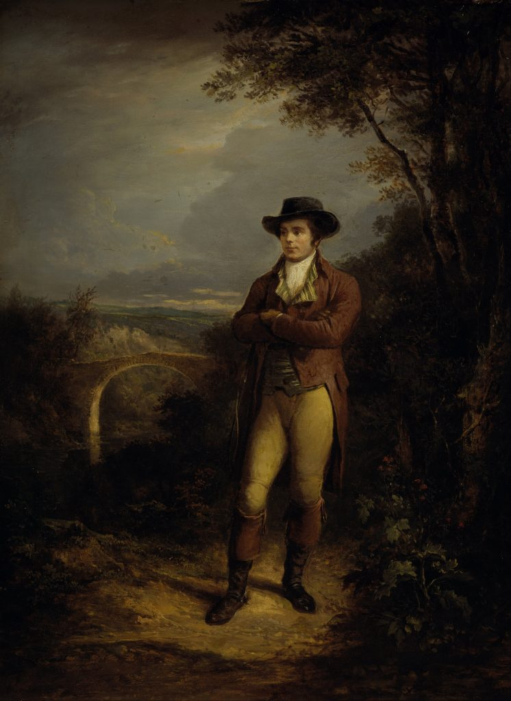 Robert Burns peint par Alexander Nasmyth (en 1828)