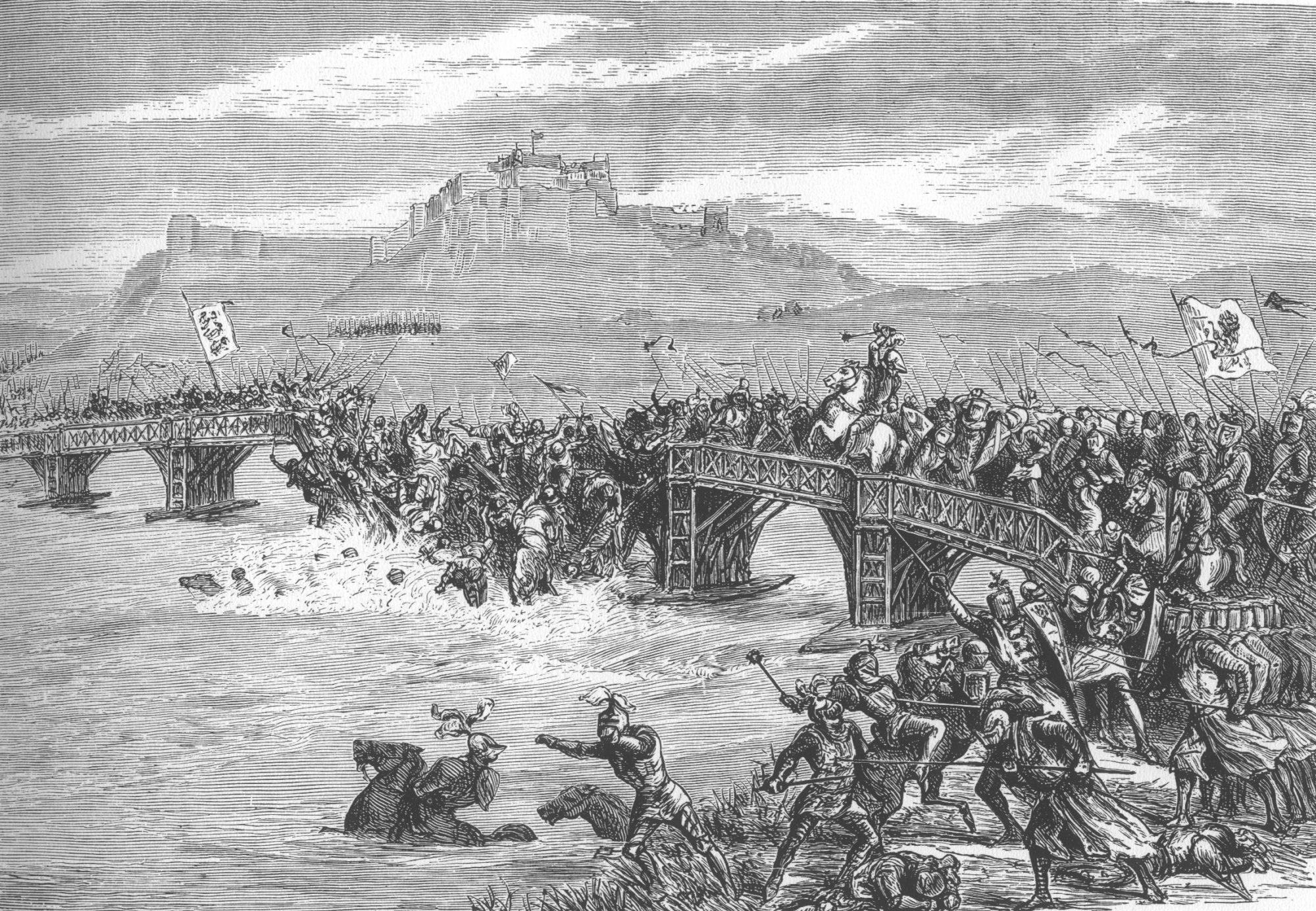 Vue victorienne de la bataille du pont de Stirling