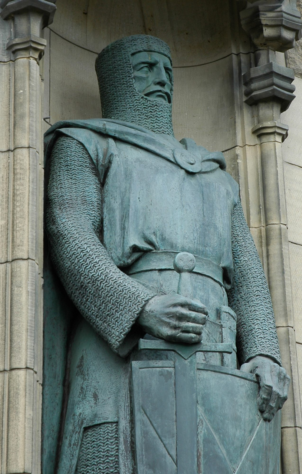 Statue de William Wallace au château d'Édimbourg