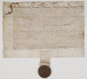 Traité d'alliance entre Marie Stuart, reine d'Ecosse et François Ier, roi de France, à Edimbourg, le 15 décembre 1543 Cote J679/54
