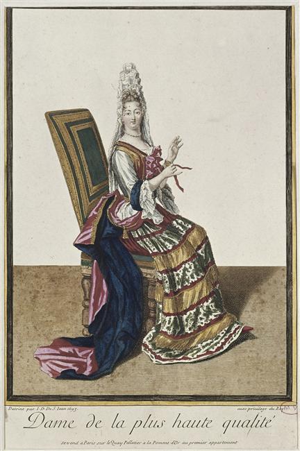 Dame de la plus haute qualité, Jacob Gole, d'après Dieu de Saint Jean, après 1693