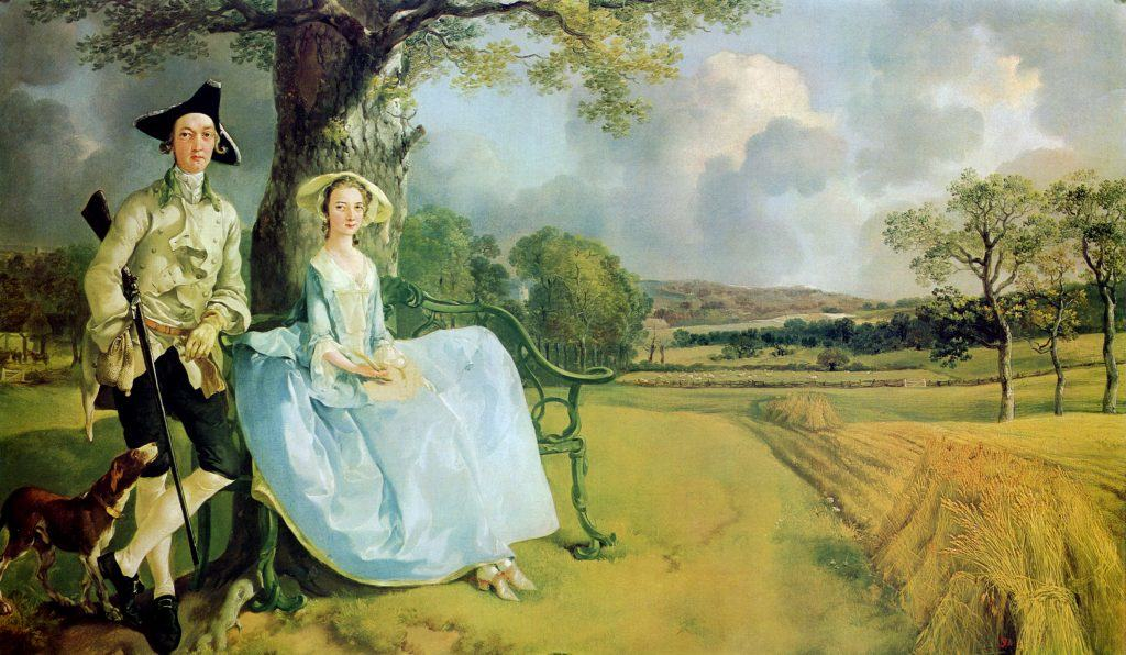 Mr and Mrs Andrews, Thomas Gainsborough,1749