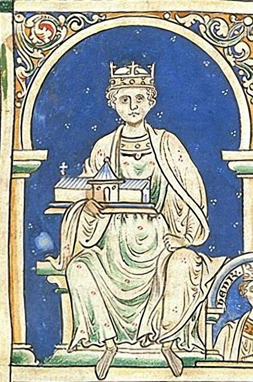 Henry II d'Angleterre, extrait d'Historia Anglorum, 1250-55