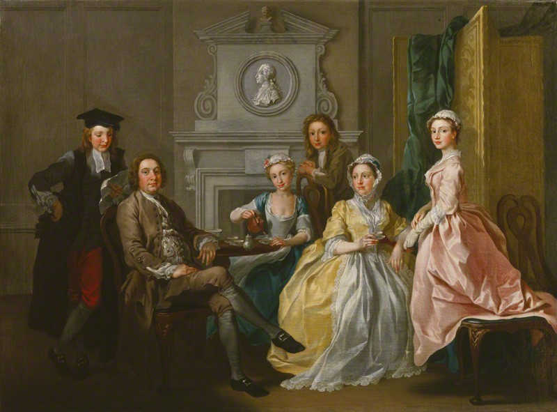 Jonathan Tyer and family, Francis Hayman, 1740