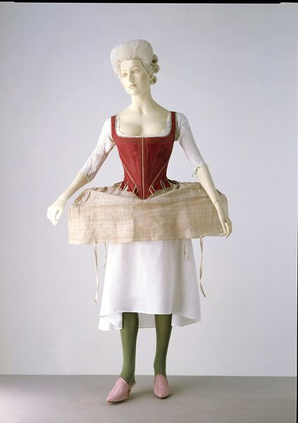 side hoop petticoat 1730-1760, Victoria and Albert museum, Londres