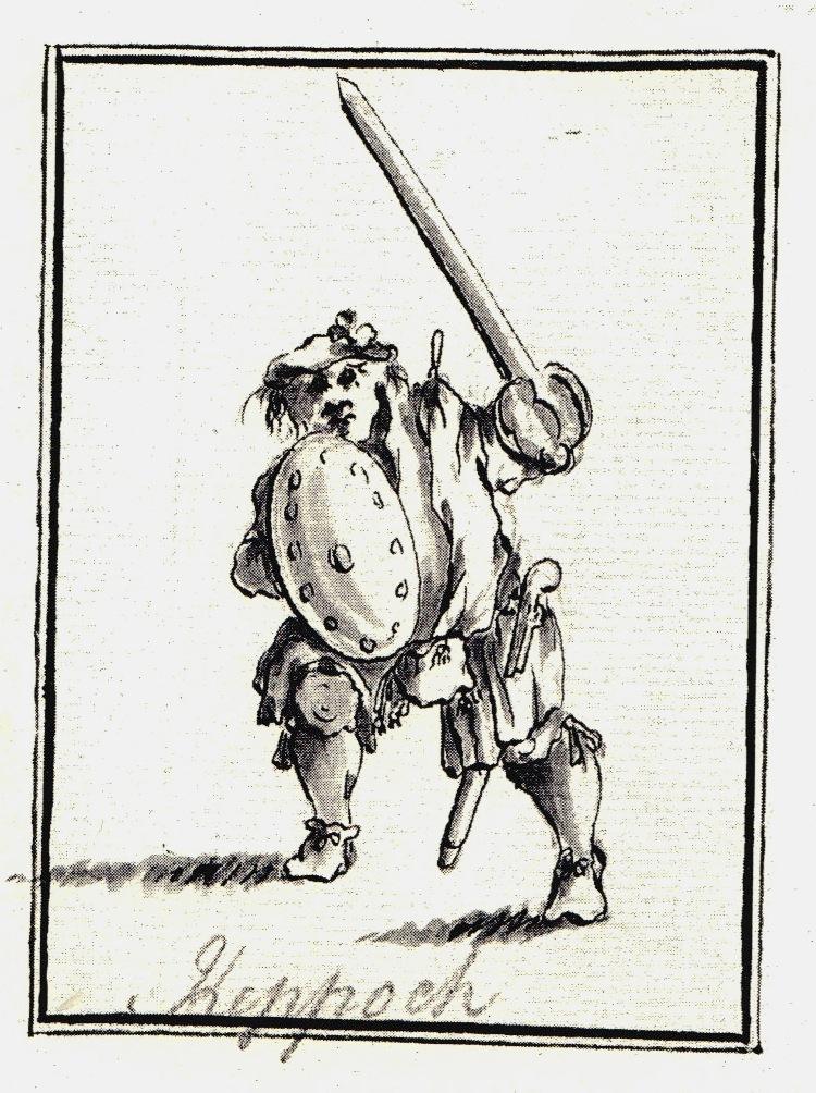 Alexander MacDonald de Keppoch, tué à Culloden - les dessins de Penicuik - vers 1745