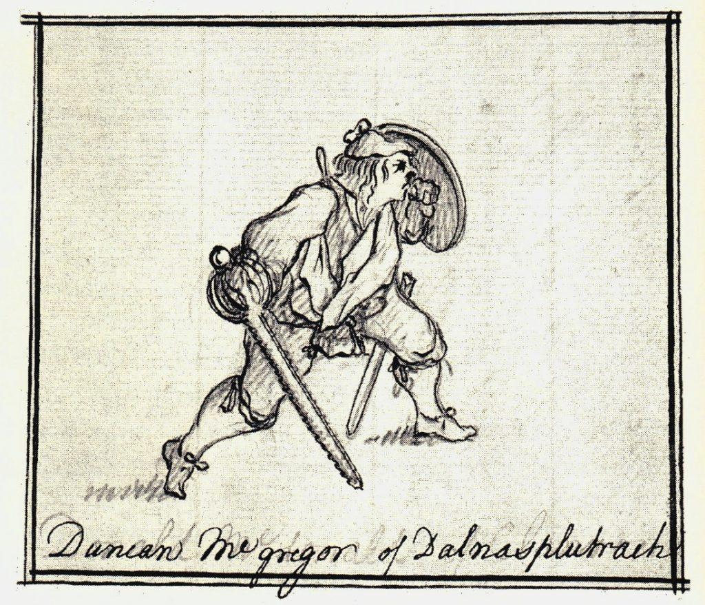 Duncan MacGregor de Dalnasplutrach - les dessins de Penicuik - vers 1745