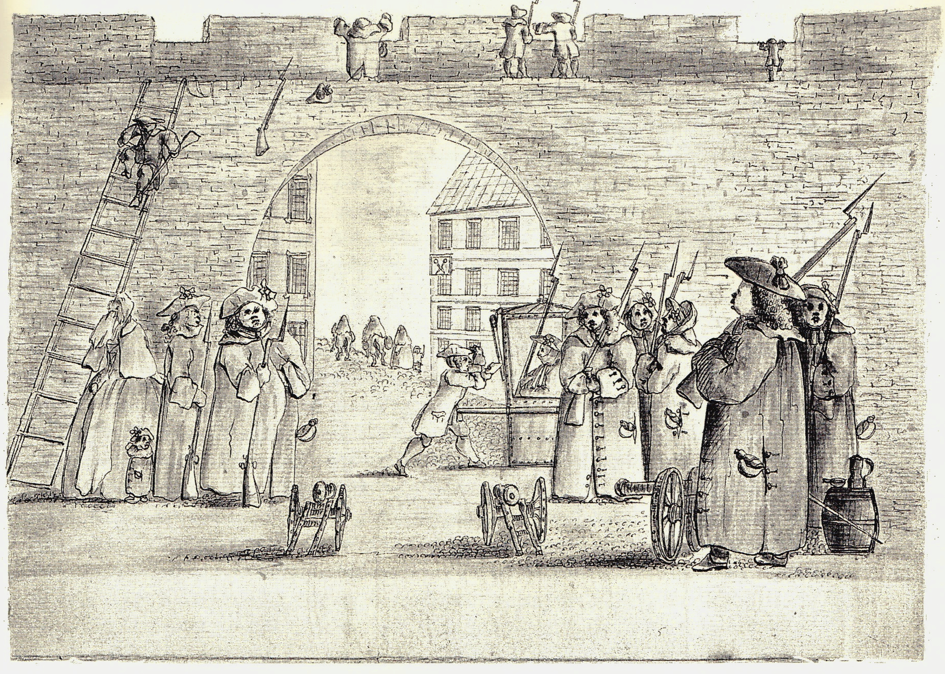 Aux portes d'Édimbourg - illustration de Penicuik
