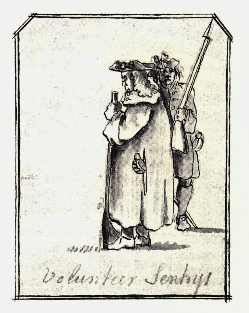 Des sentinelles - les dessins de Penicuik - vers 1745