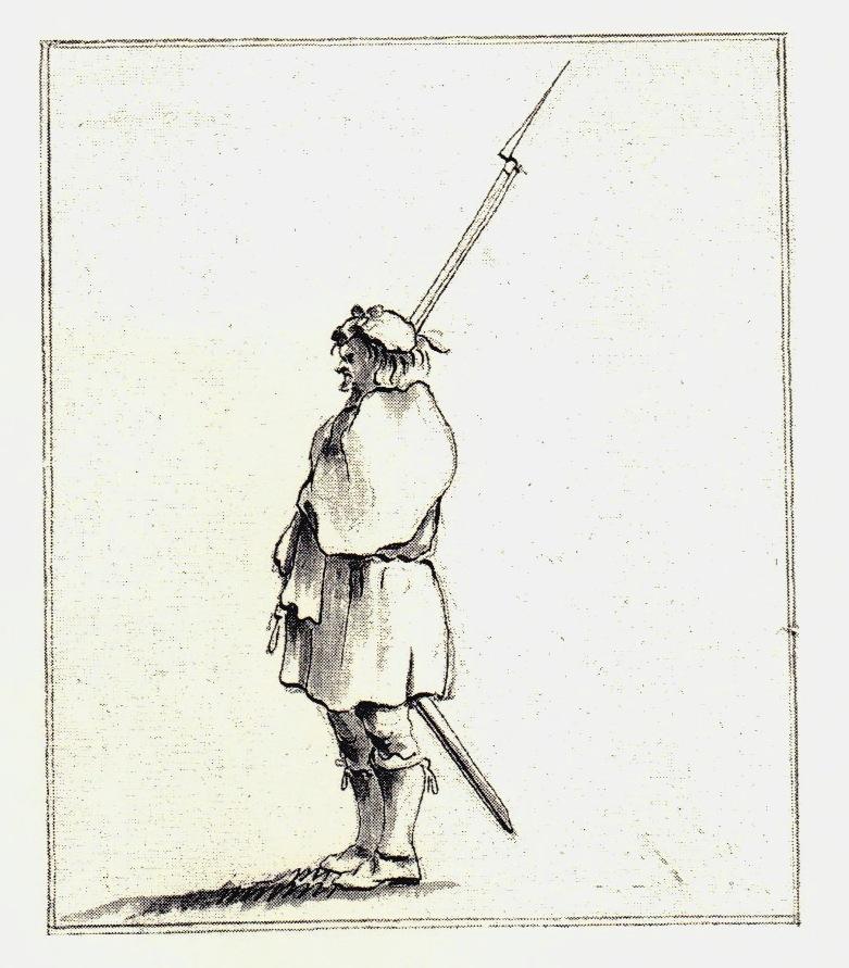 Une sentinelle - les dessins de Penicuik - vers 1745