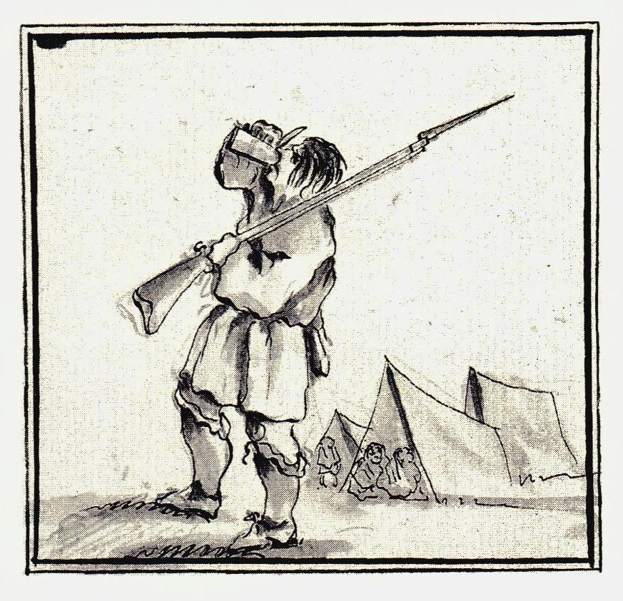 Sentinelle s'abreuvant... ou s'enivrant - les dessins de Penicuik - vers 1745