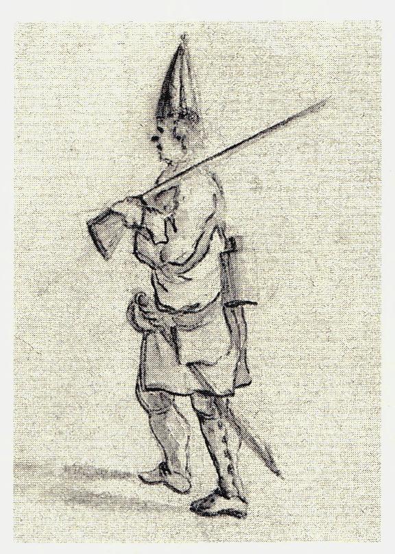 Soldat anglais - les dessins de Penicuik - vers 1745