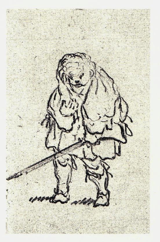 Clansman jacobite - les dessins de Penicuik - vers 1745