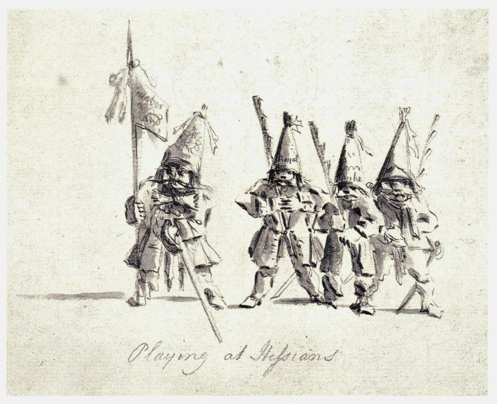 Troupe régulière anglaise - les dessins de Penicuik - vers 1745