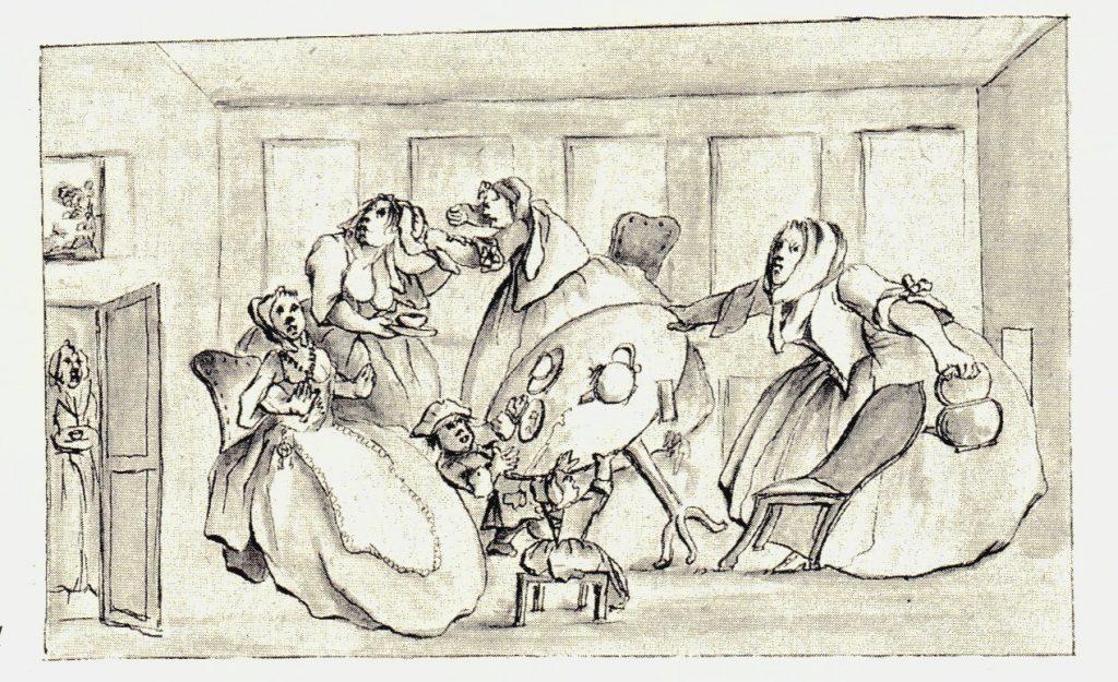 Scène de vie à Édimbourg - les dessins de Penicuik - vers 1745