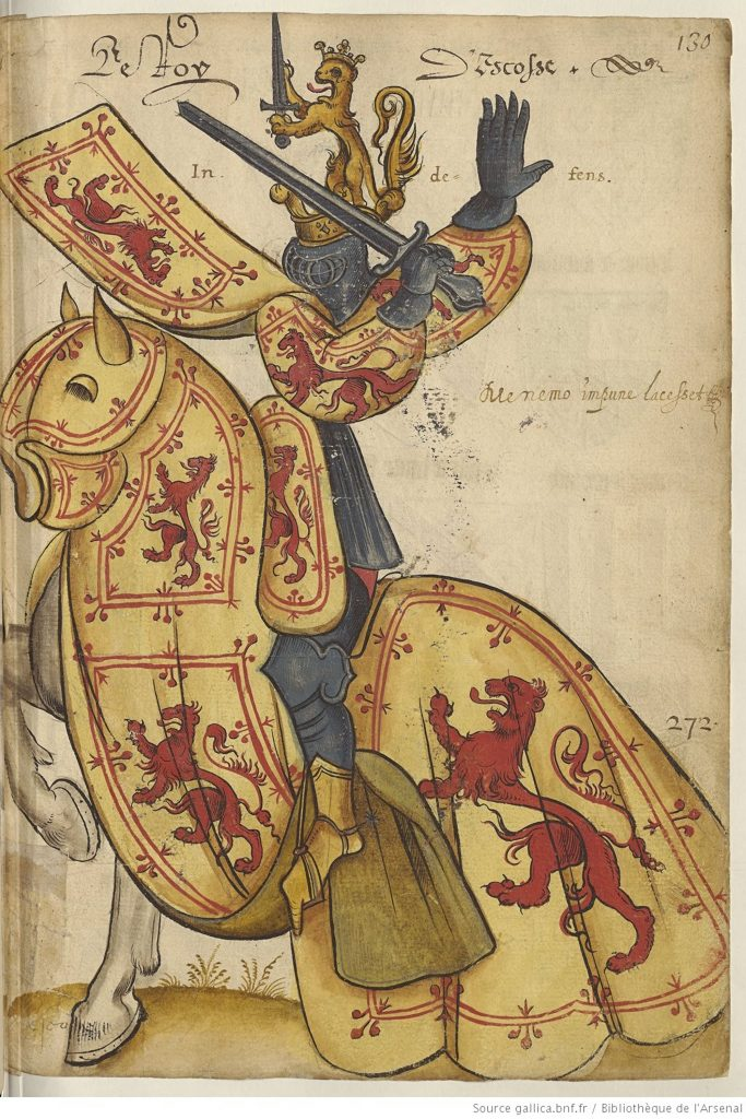 Robert le Bruce, Armorial de l'Europe, manuscrit du 15e siècle, France