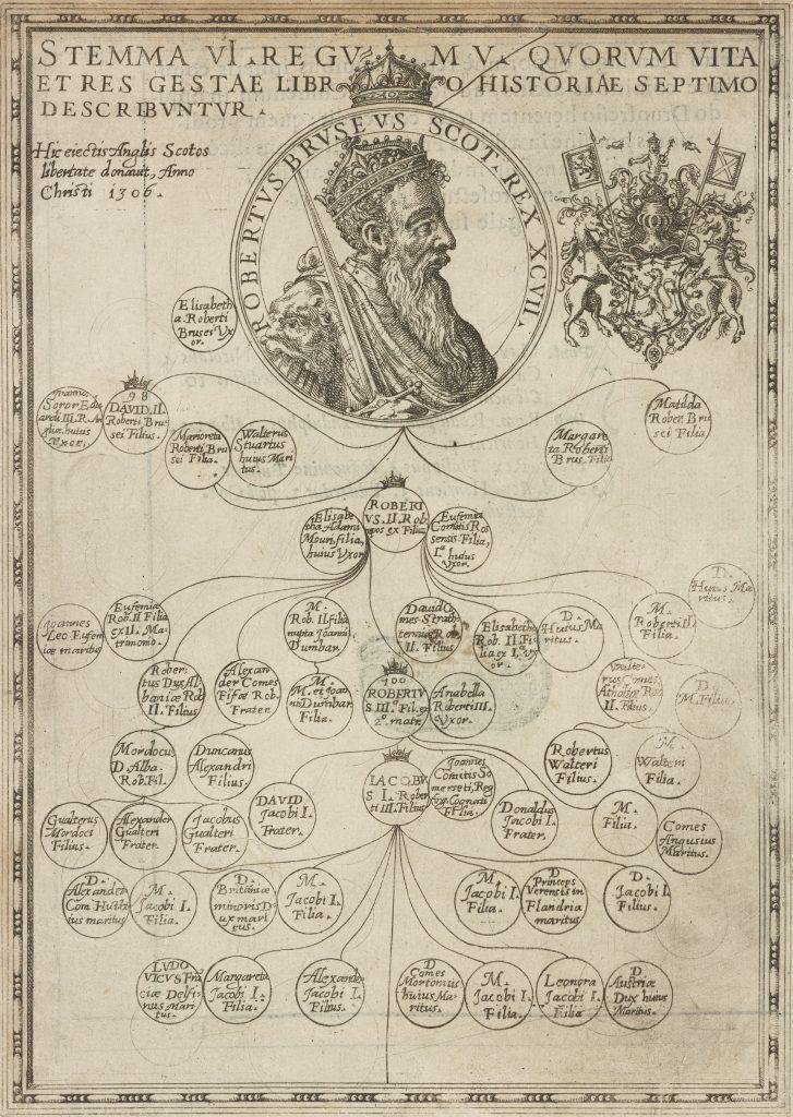 Arbre généalogique de Robert I, auteur inconnu, publié en 1578