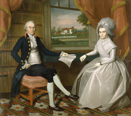 Oliver Oliver and Abigail Wolcott Ellsworth, Ralph Earl, 1801