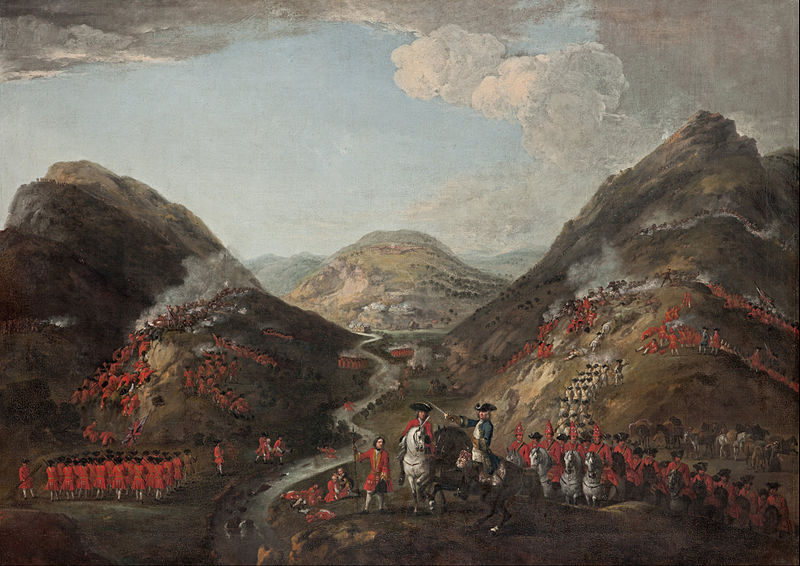 the battle of Glenshiel, Peter Tillemans, 1719