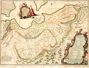 La carte de Finlayson sur les mouvements de troupe à Culloden - 1746