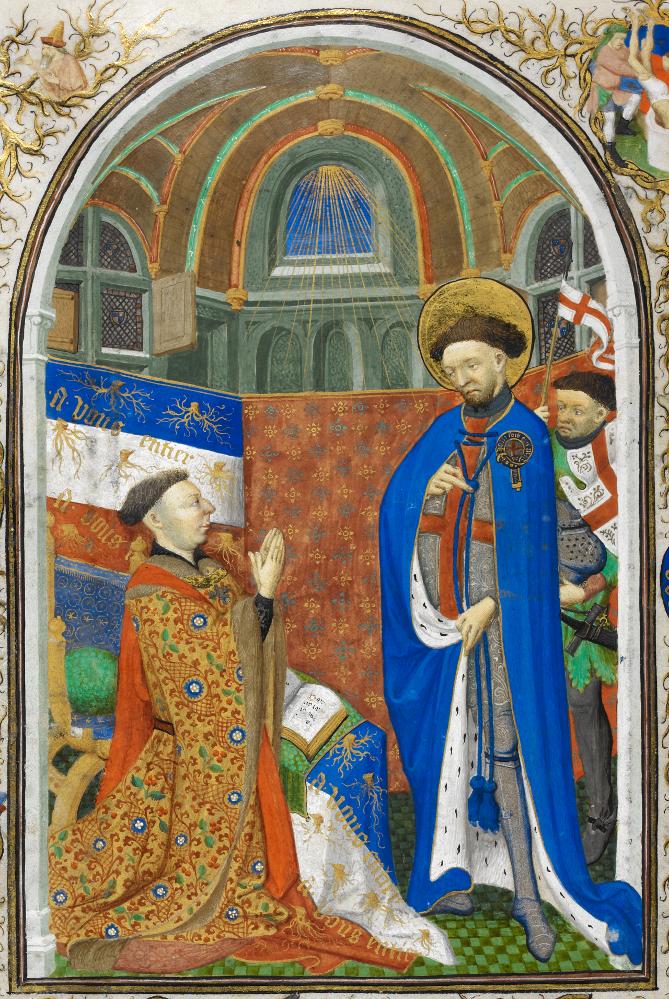 Jean de Lancastre, Duc de Bedford - Livre des heures de Bedford - vers 1423, British Library (MS 18850 folio256v)