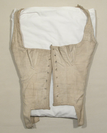 Corset en coton - 1820-1850 - Angleterre - National Trust Inventory (NT 1350127)