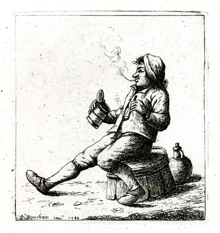gravure de 1783 - Édimbourg - ref 1861,0413.386 - British Museum