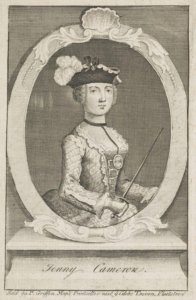 Jenny Cameron, c. 1700 - 1790. Aventurière; soutien de Charles Edward Stuart