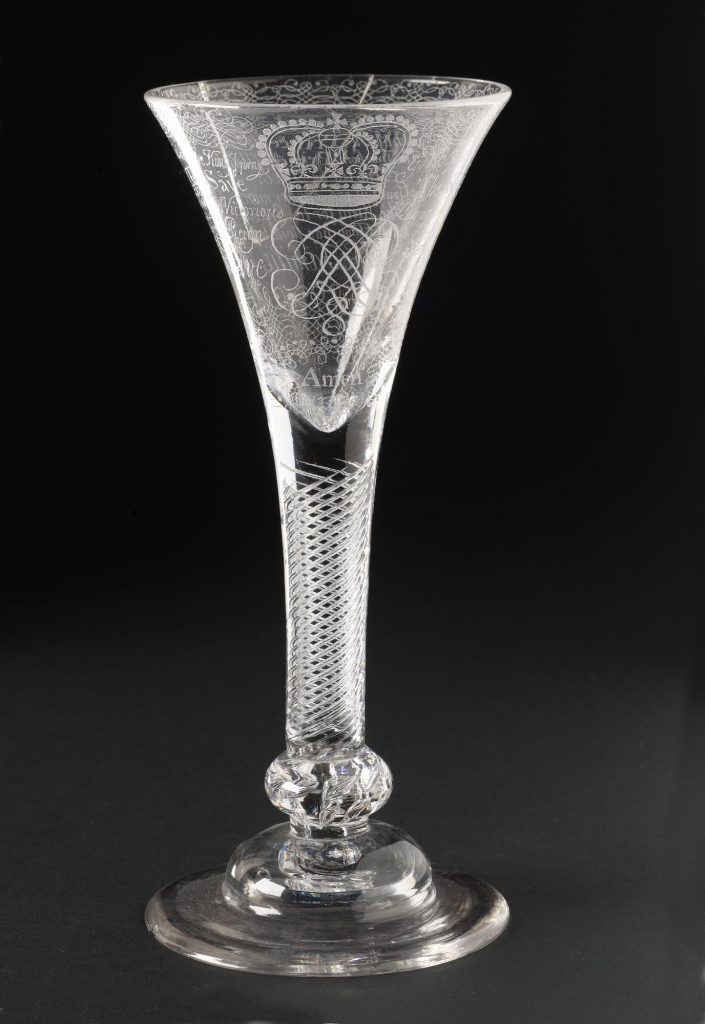 Verre jacobite - 1720-1750 - ref. H.MEN 92 - National Museum of Scotland